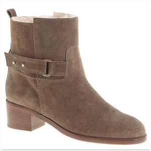 NWT J. Crew Parker Suede Ankle Boot Size 9